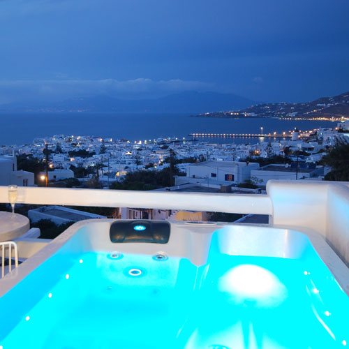 Spectacular sea view from Constantina Zorz Xydakis Mykonos Rooms